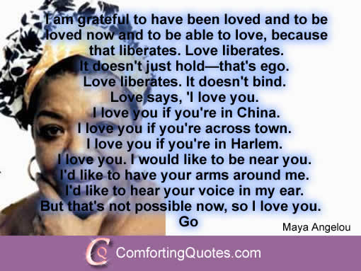 Maya Angelou Quote On 'I Love You' Minding Matters Classy Love Quotes Maya Angelou